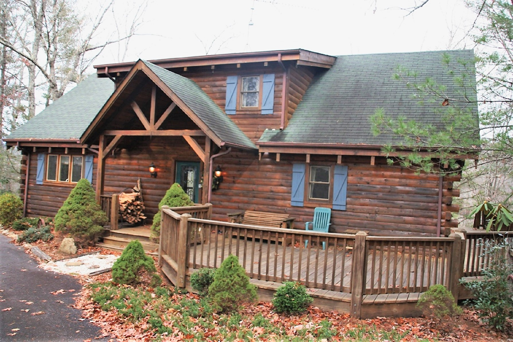 *****SOLD*****MOUNTAIN LOG HOME WITH VIEWS, FOR SALE IN LEATHERWOOD MOUNTAIN High Horse